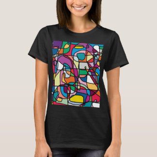 Abstract Colors Doodle Women's T-Shirt