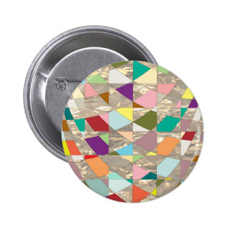 Abstract Colors Gold 6 Cm Round Badge