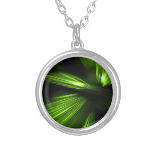 Abstract Colors Green Blaze Custom Jewelry