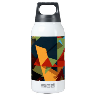 Abstract colors insulated water bottle