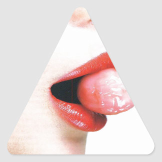 Abstract Colors Lips Lolly Triangle Sticker