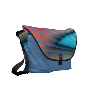 Abstract colors messenger bag