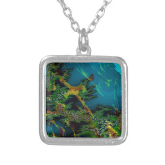 Abstract Colors Misty Forest Personalized Necklace