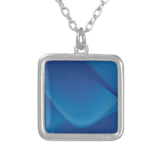 Abstract Colors Oil Thick Blue Pendants