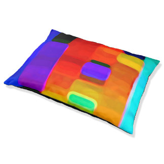 Abstract Colors Pet Bed