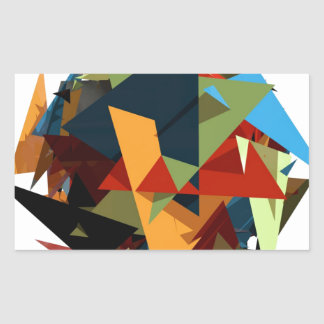 Abstract colors rectangular sticker