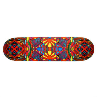 Abstract colors skateboard deck