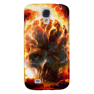 Abstract Colors Skull From Hell Galaxy S4 Case