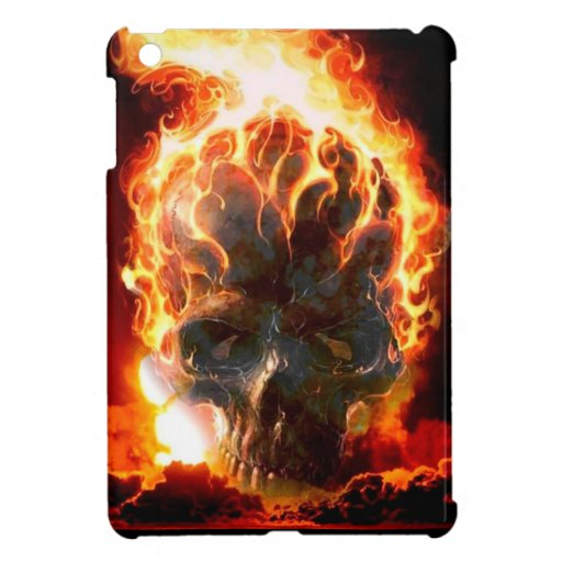 Abstract Colors Skull From Hell Cover For The iPad Mini