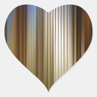 Abstract Colors Stripey Dark Light Heart Sticker