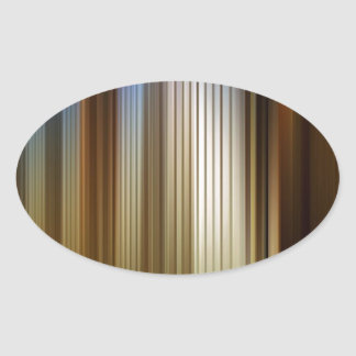 Abstract Colors Stripey Dark Light Oval Sticker
