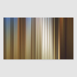 Abstract Colors Stripey Dark Light Rectangular Sticker