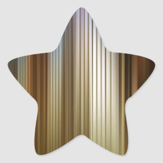 Abstract Colors Stripey Dark Light Star Sticker