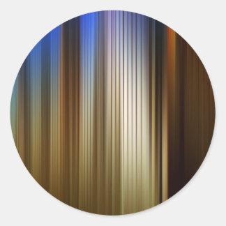 Abstract Colors Stripey Dark Light Classic Round Sticker