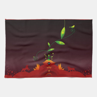 Abstract Colors Tea Towel