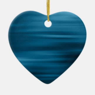 Abstract Colors Whizzing Blue Past Ceramic Heart Decoration