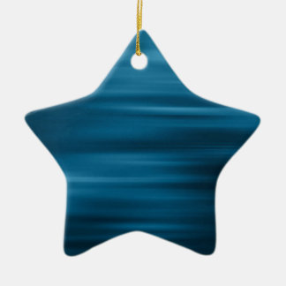 Abstract Colors Whizzing Blue Past Double-Sided Star Ceramic Christmas Ornament