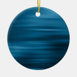 Abstract Colors Whizzing Blue Past Round Ceramic Decoration