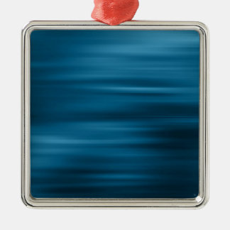 Abstract Colors Whizzing Blue Past Silver-Colored Square Decoration