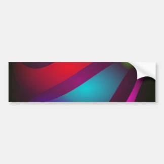 Abstract Colors with Black Background Bumper Sticker