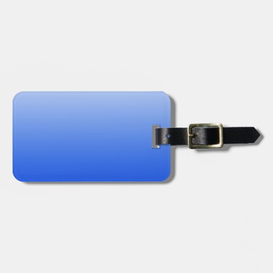 Abstract colour - blue luggage tag