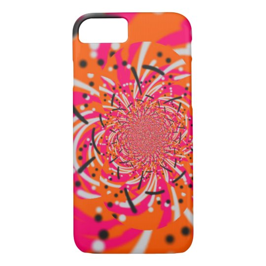 Abstract Colour Burst- Orange and Pink iPhone 8/7 Case