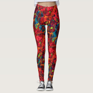 Abstract Colour Explosion Leggings