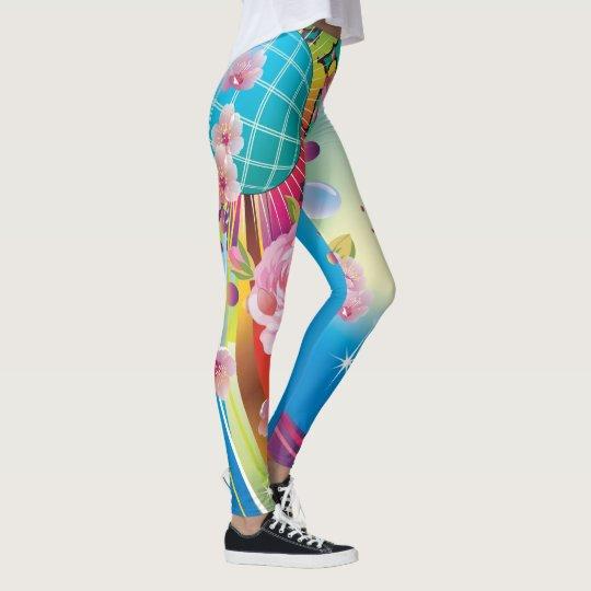 Abstract Colour Explosion Unique Leggings