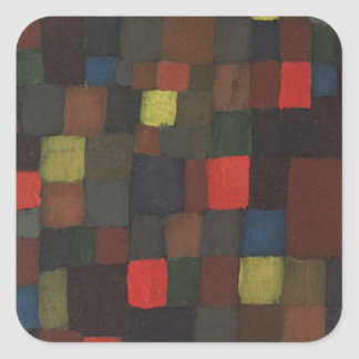 Abstract Colour Harmony in Squares with Vermillion Square Sticker