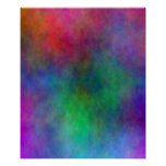 Abstract Colour Splash Poster