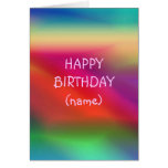 Abstract Coloured Birthday Card