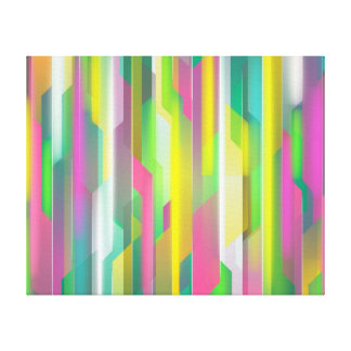 Abstract Coloured Design Canvas Print