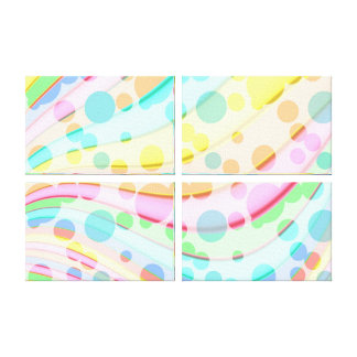 Abstract Coloured Dots Canvas Print