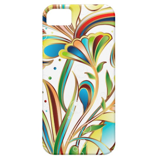 Abstract Coloured Floral Vector Art iPhone 5 Cover