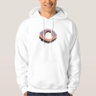 Abstract coloured sunset hooded sweatshirt