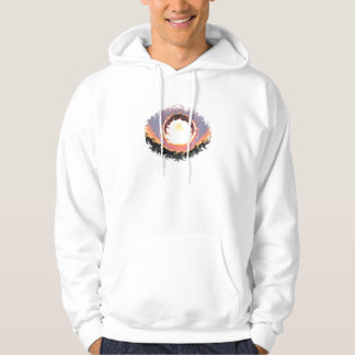 Abstract coloured sunset hoodie