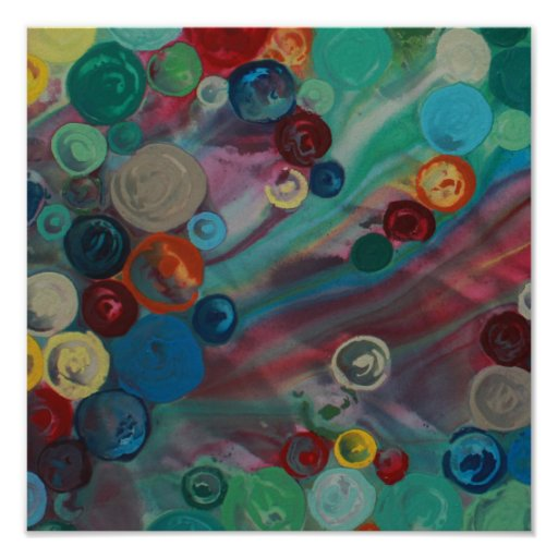 Abstract colourful art print