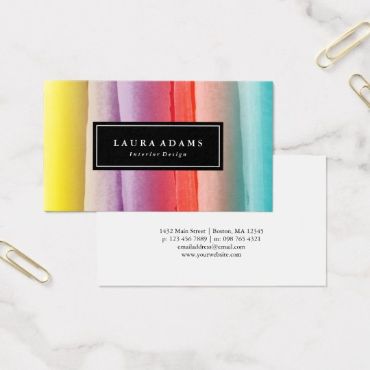 Abstract Colourful Brushstrokes Business Card