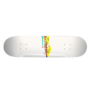 Abstract colourful clarinet graphic image design skate board
