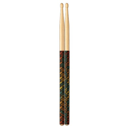 abstract colourful drumsticks