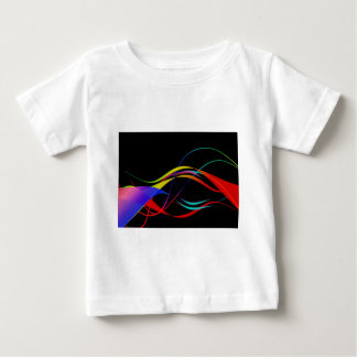Abstract Colourful Lines and Waves Pattern Tshirts