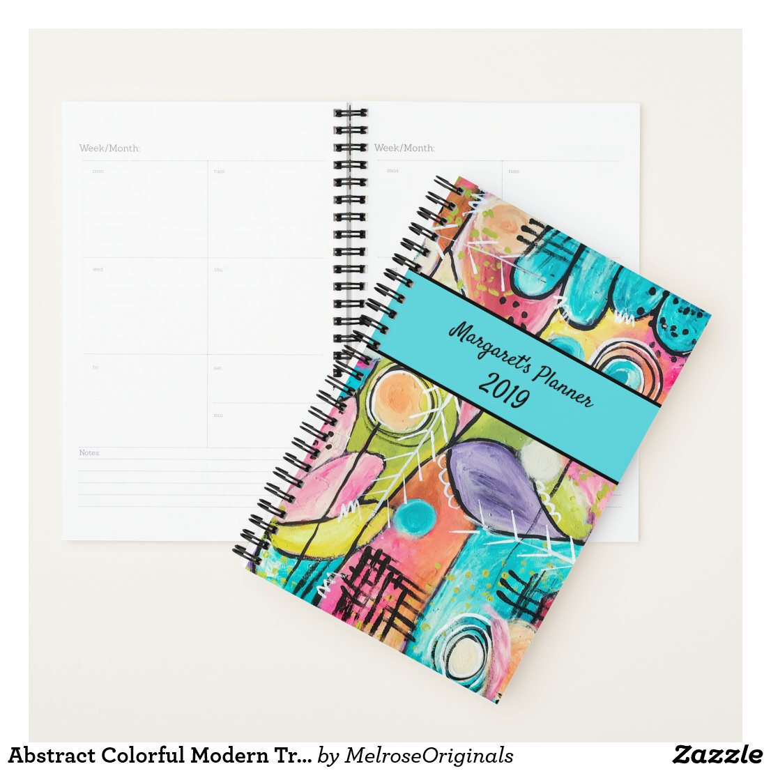 Abstract Colourful Modern Trendy Artistic Planner