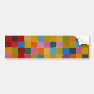 Abstract Colourful Mosaic Bumper Sticker