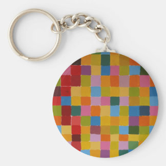 Abstract Colourful Mosaic Key Ring