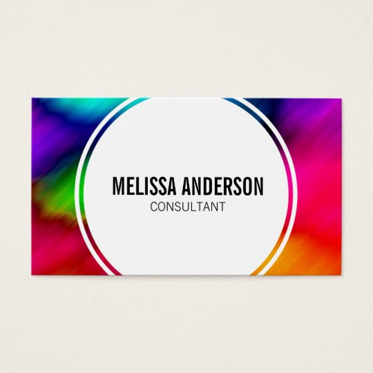 Abstract Colourful Rainbow Tie Dye Business Cards