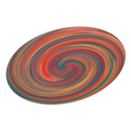 Abstract Colourful Swirl Pattern #5 Plate