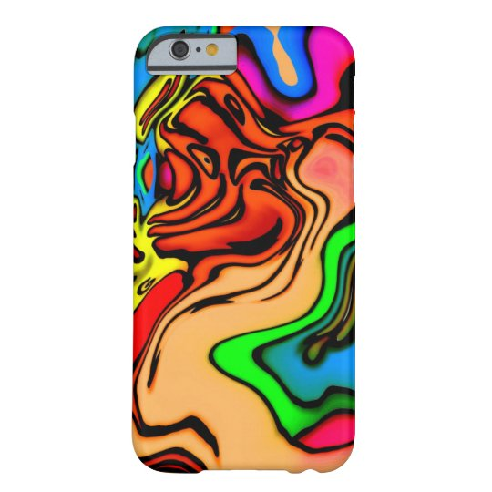 Abstract Colourful Swirl Pattern Barely There iPhone 6 Case