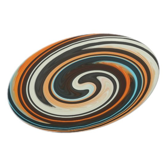 Abstract Colourful Swirl Pattern Plate