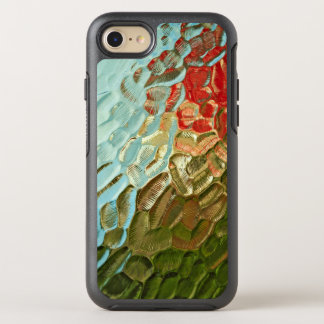 abstract colourful textured glass pattern OtterBox symmetry iPhone 8/7 case