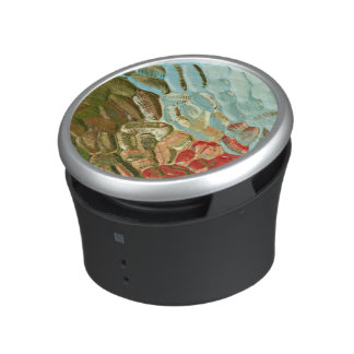 abstract colourful textured glass pattern speaker